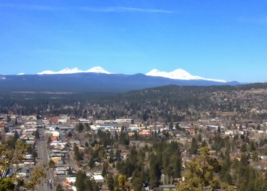 Looking toward downtown Bend