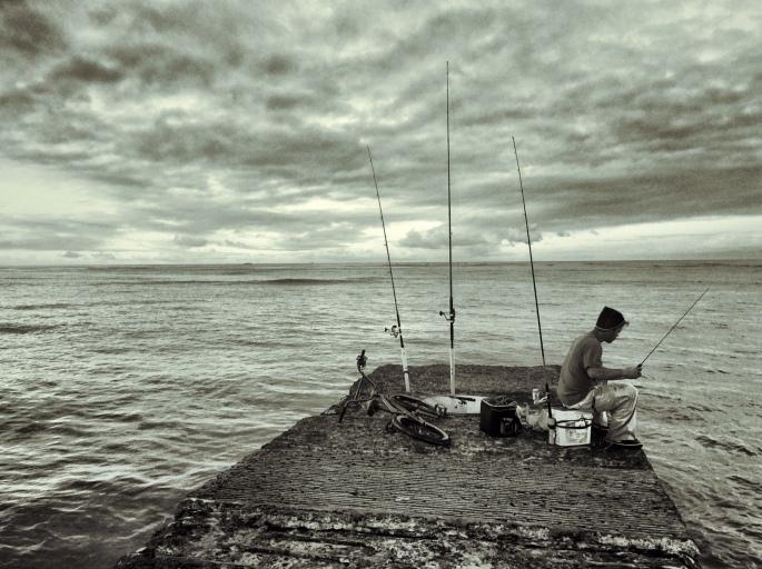 BW Fisherman