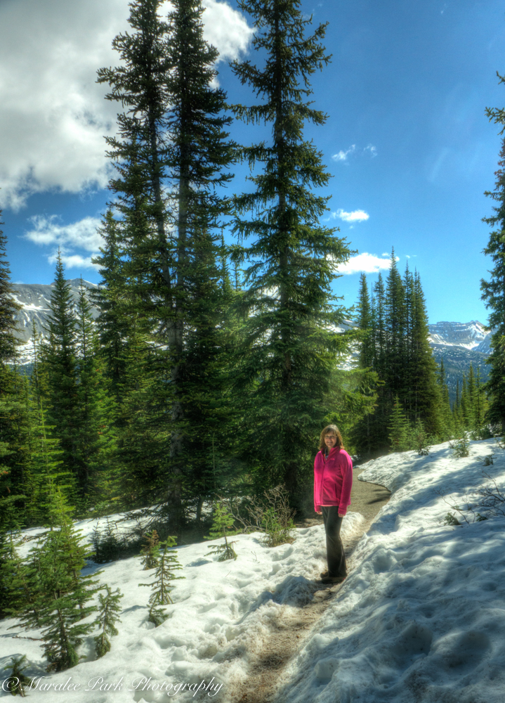 My sister on the trail.