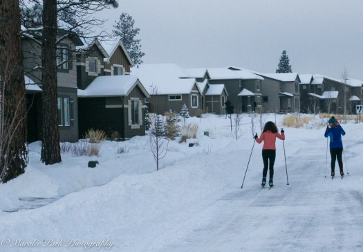 The best way to get around was on cross-country skis or snowshoes.