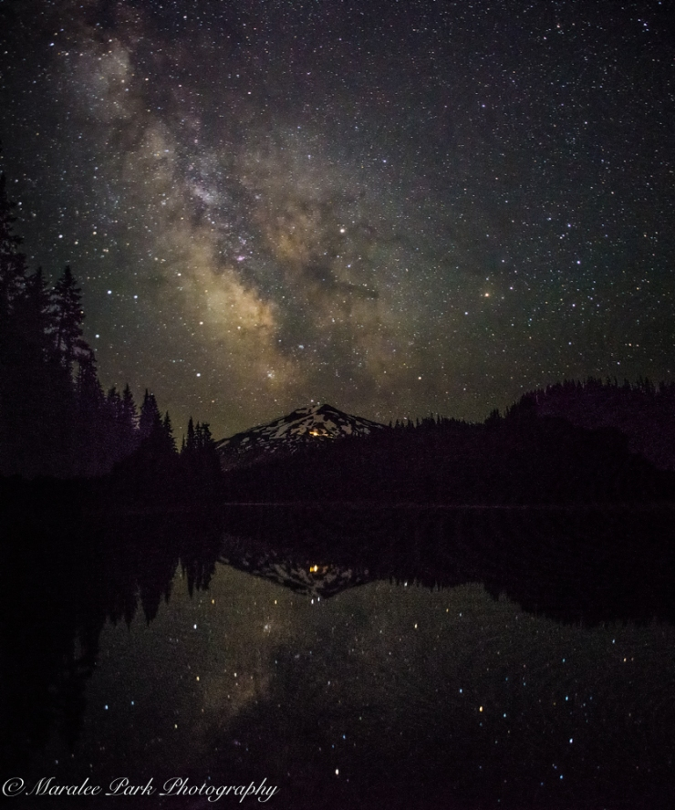 Milky Way over Mt. Bachelor from Todd Lake