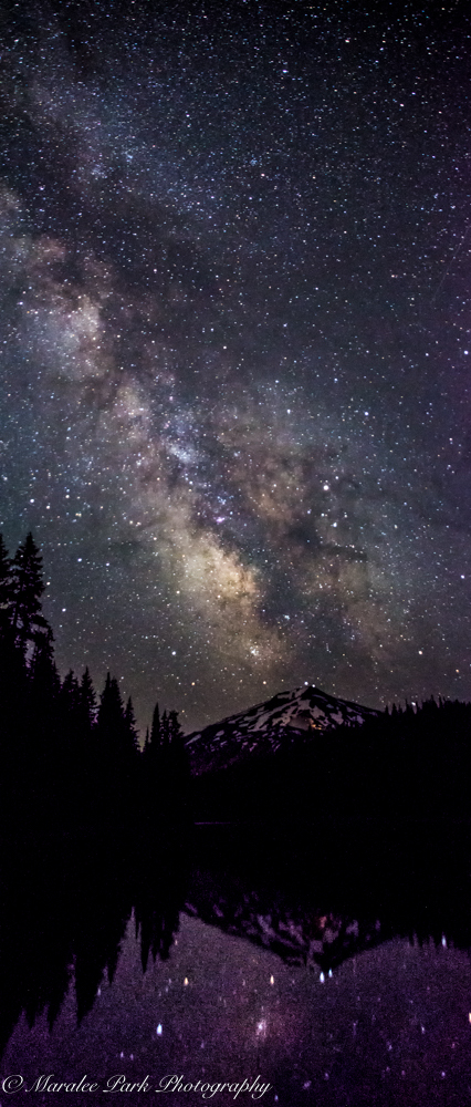 Milky Way over Mt. Bachelor taken from Todd Lake