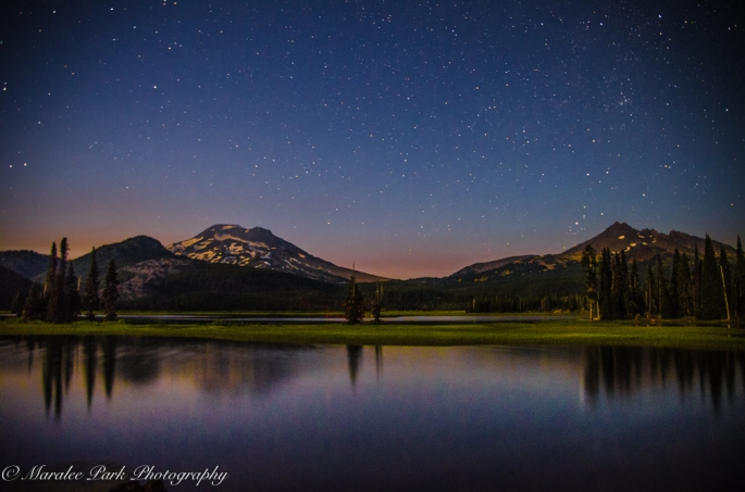 Sparks Lake just before dark.