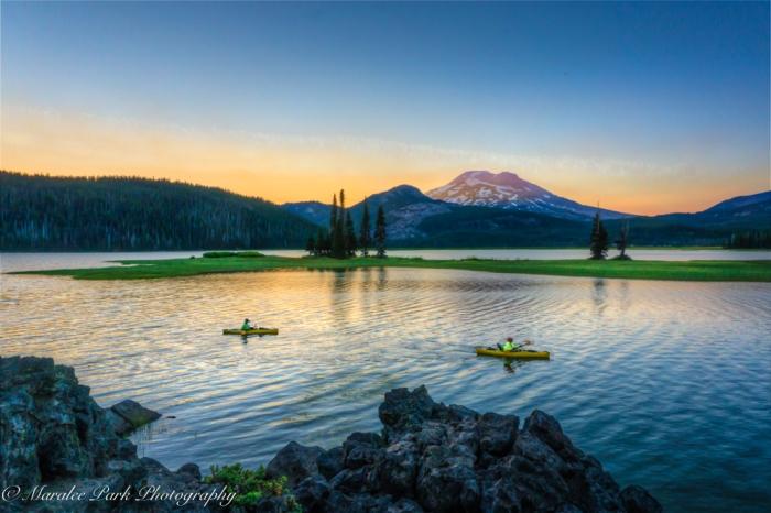 Kayaking on Sparks Lake at Sunset