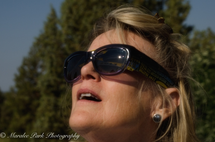 Reflection of the eclipse