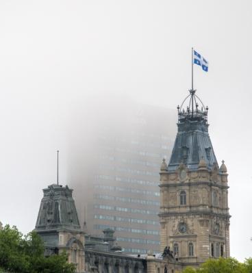 Parliament in Fog