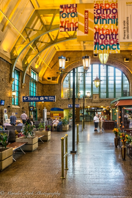 Inside the Quebec City Train Station