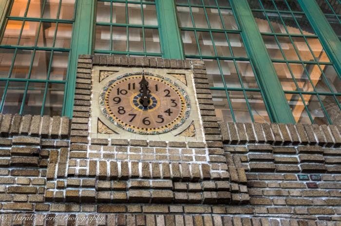 Clock inside the Quebec City Train Station