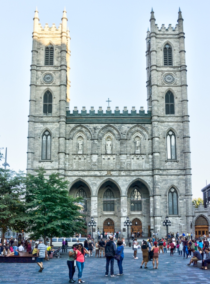 Notre-Dame Basilica from Place d'Armes