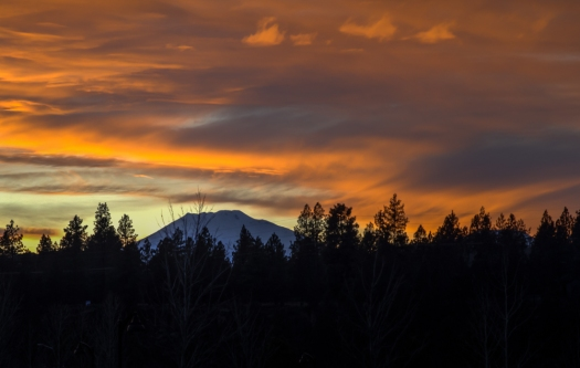 Sunset over Mt. Bachelor