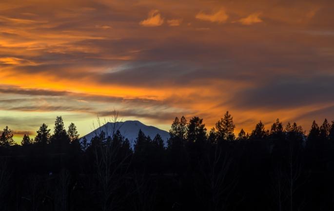 Sunset over Mt. Bachelor