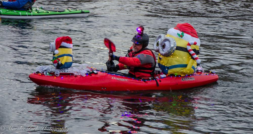 Christmas Kayak Parade on the Deschutes River