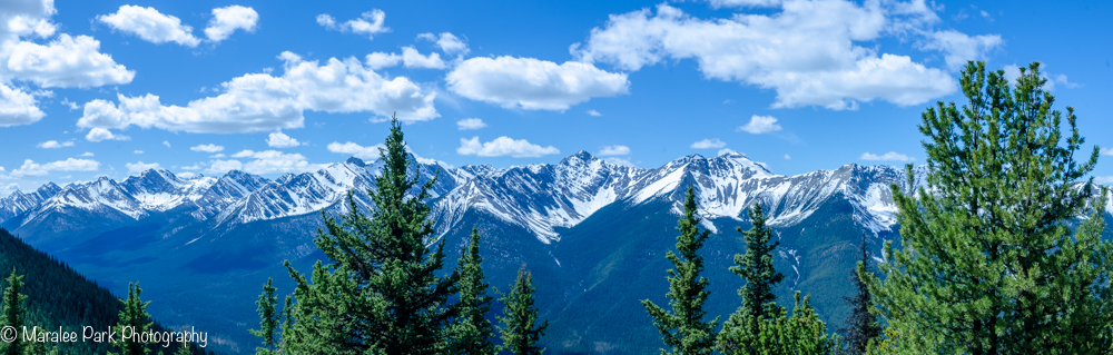 Panorama view from the top of Sulphur Mountain