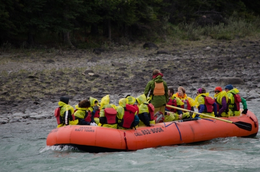 River rafting on the Athabasca River
